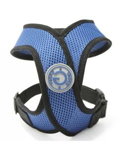 Gooby Comfort X Dog Head-in Harness Blue Medium X-Harness