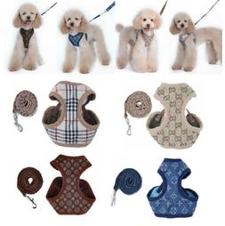 Cowboy Breathable Pet Dog Vest Harness Leather Harnesses Set