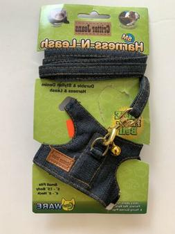Ware Critter Jeans Small Animal Harness-N-Leash