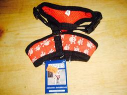CASUAL CANINE CROSSBONE DOG HARNESS RED SMALL