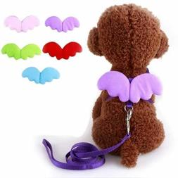 Cute Angel Pet Dog Leashes and Collars Set Puppy Leads for S