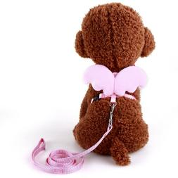 Cute Angel Pet Dog Leashes and Collars Set Adjusted Small Do