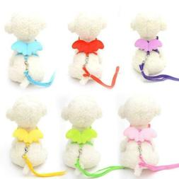 Cute Angel Pet Dog Puppy Leashes And Collars Set Leads Leash