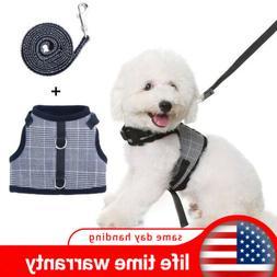 Cute Dog Harness W/ Leash No Pull Adjustable Vest Reflective