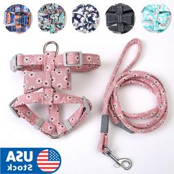 Cute flower Cat Harness and Leash Dog Leash with Adjustable
