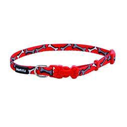 Coastal Pet Li'l Pals Adjustable Dog Collar   Red & White Bo