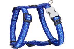 Red Dingo Designer Dog Harness, Large, Hypno Mid-Blue