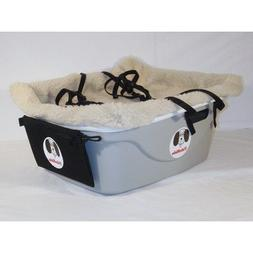1 Seater Dog Car Seat Finish: Gray, Harness Size: Large, Lin