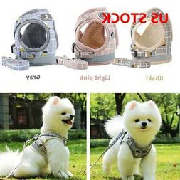 Dog Cat Vest Harness and Lead Adjustable Reflective Strap Ve