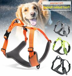 DOG HARNESS 3M REFLECTIVE ADJUSTABLE NYLON HARNESSES PET COL