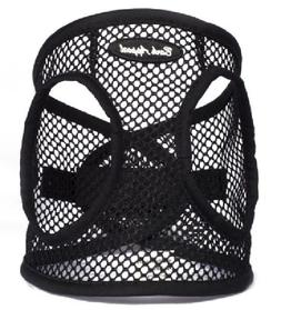 Dog Harness BLACK Step In Netted EZ Wrap Choke Free Up to 25
