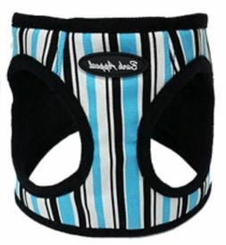 Bark Appeal Dog Harness Blue Stripe Canvas Step In EZ Wrap N