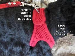 dog harness choke free velpro mesh pet