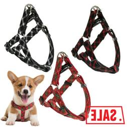 Dog Harness Durable Solid Nylon Basic Halter Harnesses for D