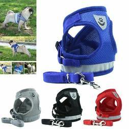 Dog Harness Pug Nylon Mesh Puppy Cat Harnesses Vest Reflecti