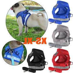 Dog Harness Pug Nylon Mesh Puppy Cat Harnesses Vest Reflecti