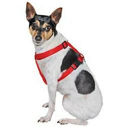Dog or Puppy Harness Red Extra Small and Small Nylon for Com
