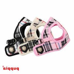 Puppia - Dog Puppy Harness Vest - Junior - Pink, Black, Beig