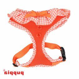 Puppia - Dog Puppy Soft Mesh Harness - Vivien - Orange - XS,