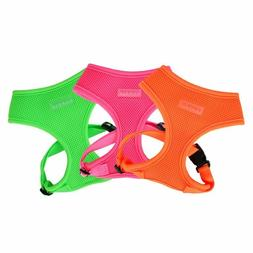 Puppia - Dog Puppy Soft Harness - Neon Collection - Pink, Or