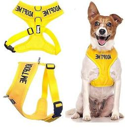 Dog Soft Vest Harness Non Pull Front Back Ring ADOPT ME Yell