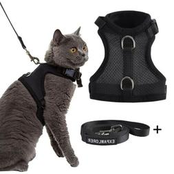 Dog Vest Harness Leash Collar No Pull Soft Mesh Adjustable S