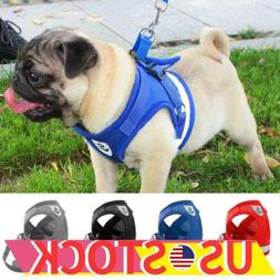 Dogs Harness Nylon Mesh Puppy Cat Harnesses Vest Reflective