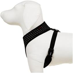Puppia Dotty Harness A, Medium, Black