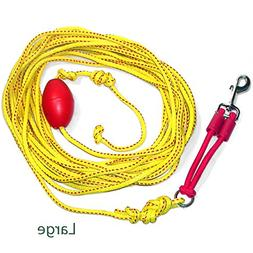 Outdoor Drag Line / Long Leash for Dogs with Bungee, 33'