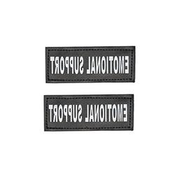 Industrial Puppy Emotional Support Dog Patch with Hook Back