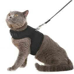 Escape Proof Cat Harness with Leash - Adjustable Soft Mesh -