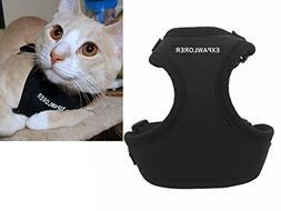EXPAWLORER Escape Proof Cat Harness - Soft Mesh Adjustable C
