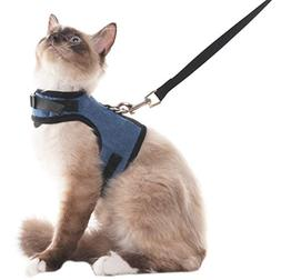 SCENEREAL Escape Proof Cat Harness and Leash - Adjustable So