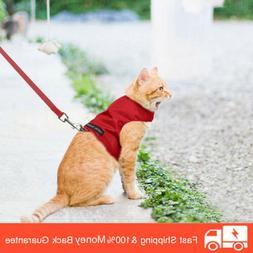 Escape Proof Cat Harness with Leash Set - Adjustable Fleece