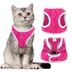 Escape Proof Cat Walking Harness Soft Small Dog Mesh Vest fo