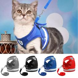 Escape Proof Cat Walking Jacket Harness and Leash Pet Puppy