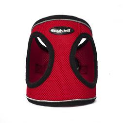 Bark Appeal EZ Wrap Mesh Dog Step In Reflective Harness Red