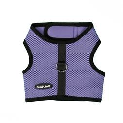 Bark Appeal EZ Wrap n Go Mesh Dog Step In Harness Lavender S