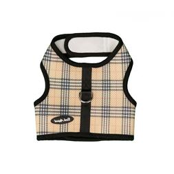 Bark Appeal EZ Wrap n Go Plaid Dog Step In Harness Tan Sizes