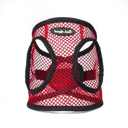 Bark Appeal EZ Wrap Netted Dog Step In Harness Red Sizes XXS