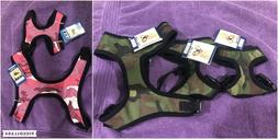 Casual Canine Fabric Dog Harness Pink Green Camo NWT LG, SM,