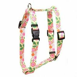 Yellow Dog Design FPAT150 Flower Roman Dog Harness Fits Ches