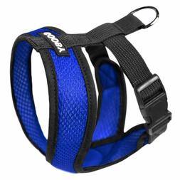 Gooby Fully adjustable Choke Free Comfort X Soft Harness Blu