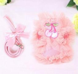 Girl Dog Harness and Leash Female Pet Puppy Vest for Small M