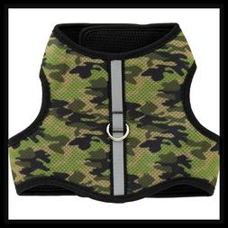 Top Paw Green Camo Comfy Padded Reflective Dog vest Harness