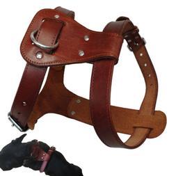 Handcraft Genuine Leather Pet Dog Harness Vest for Small Lar