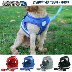 Harness Pet Vest Leash and Mesh Set Cat Soft Puppy Small Str