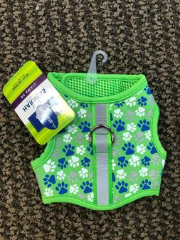 Top Paw Harness Vest Padding Green Blue Easy Fit XXS Small R