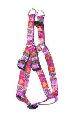 Yellow Dog Design Step-In Harness, Medium, Crazy Hearts