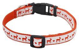 Lanyar Holiday Dog Collar Christmas Reindeer Collars for Pup